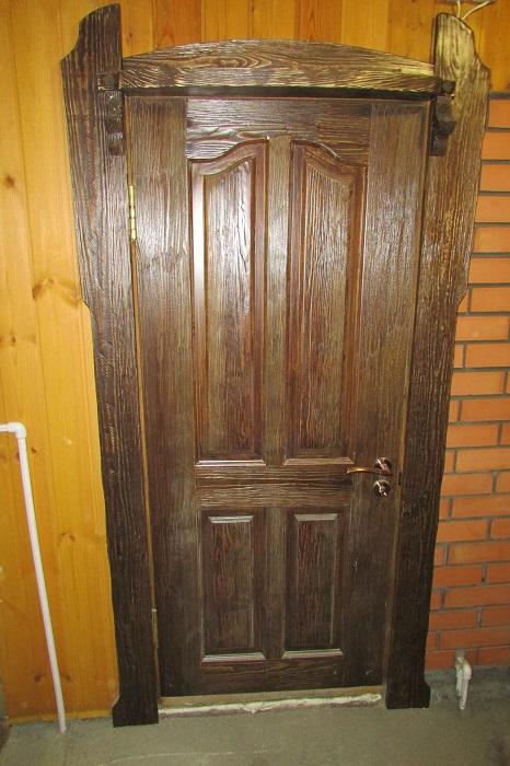 Как состарить деревянную дверь своими руками 72