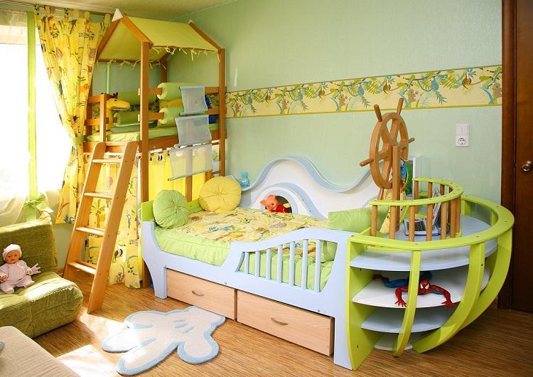 Как самой сделать детскую комнату