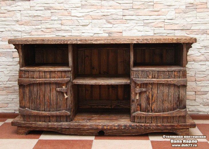 Мебель из брашированного дерева своими руками 89