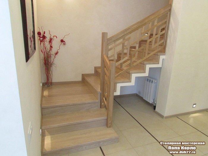 Купить перила для лестниц, балясины из дерева, деревянные