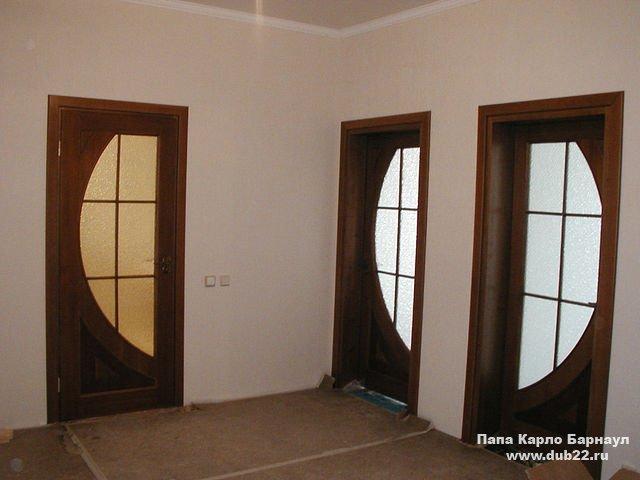 Деревянные двери массив ольхи, дуба и сосны