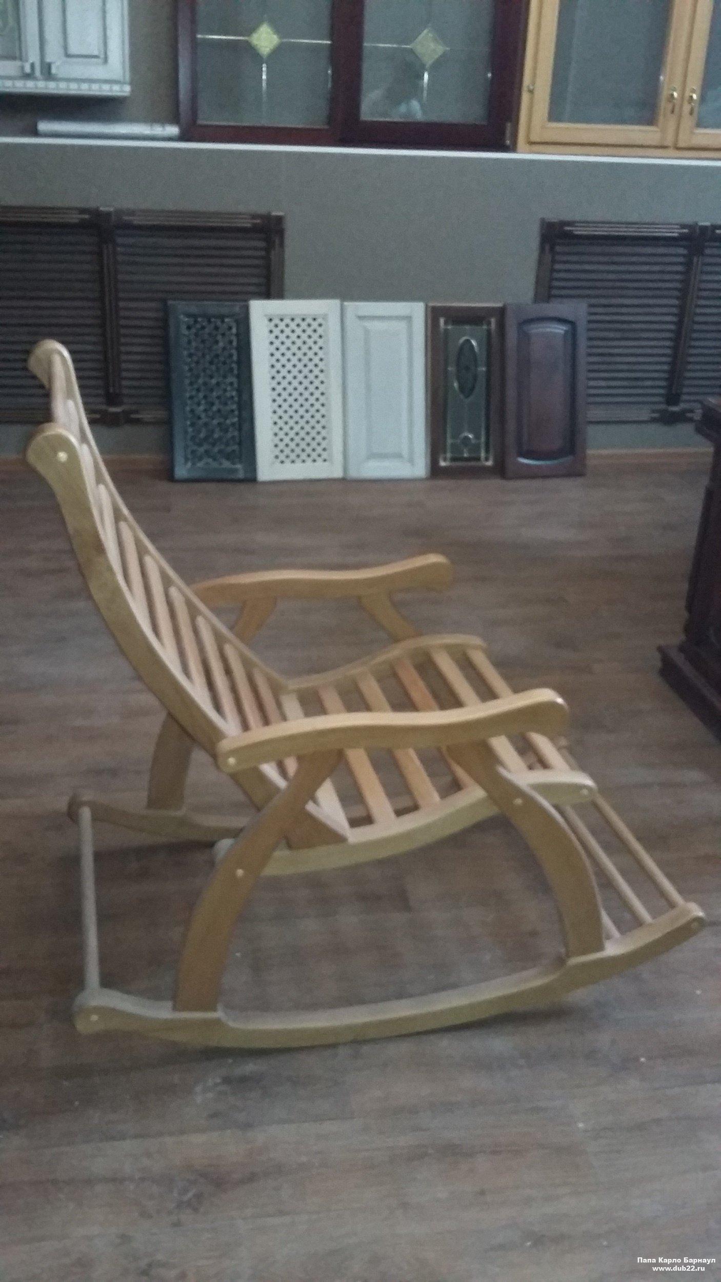заказать деревянное кресло качалку папа карло фабрика столярных