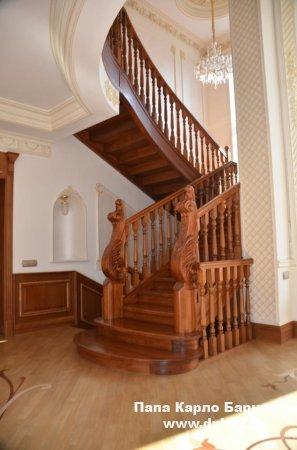 Элементы лестниц, балясины, другие изделия из камня в