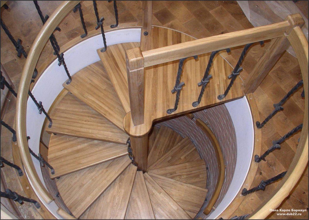 Винтовая лестница своими руками 82