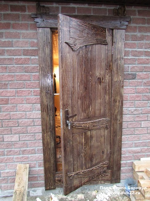 Двери из массива сосны под старину своими руками